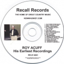 ACUFF, ROY - HIS EARLIEST RECORDINGS